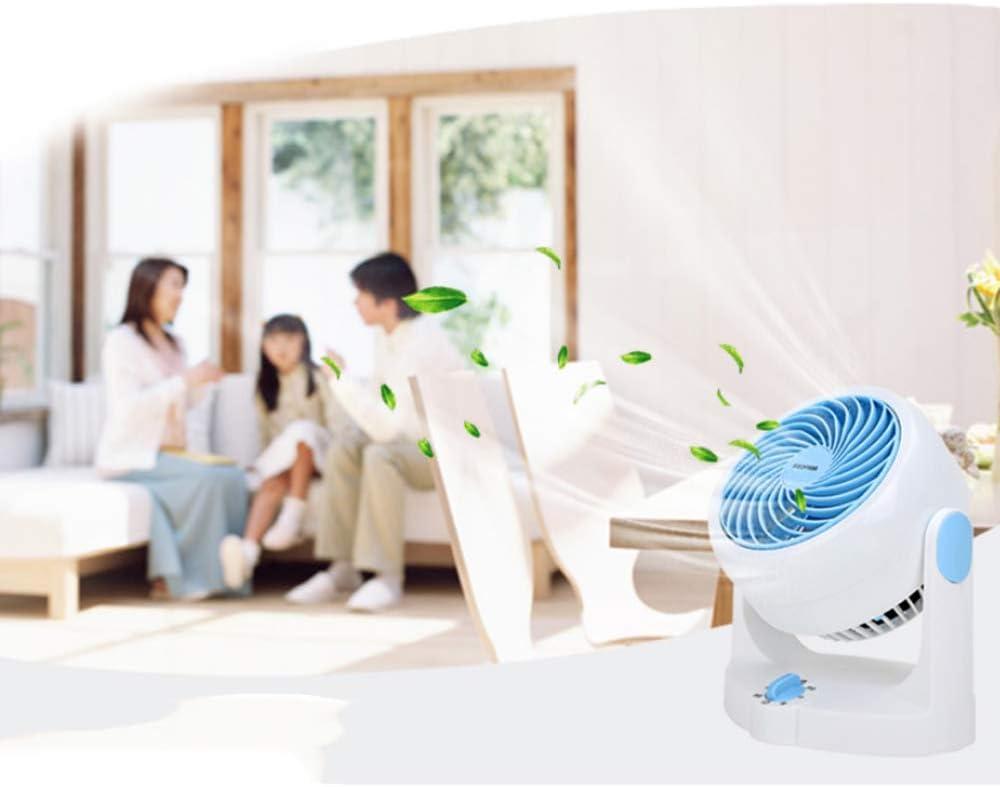 MJ-Fan Ventilatore da Tavolo a circolazione d\'Aria Ventilatori a Muro Silent 3 Speed Setting casa/Ufficio (Blu/Rosa) Blu