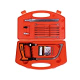 AUTOTOOLHOME 12 in 1 Magic Saw Multi Purpose Handsaws Mini DIY Bow Hacksaw For Wood Woodworking Glass Tile Metal Plastic Saw Kit with case Set of 12