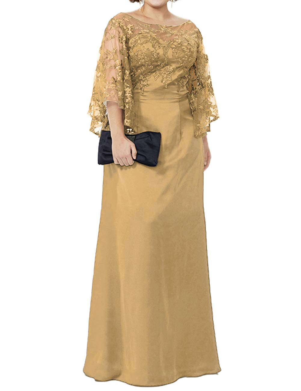 Mother of The Bride Dresses Plus Size Evening Gowns Lace Long Formal Gowns  and Evening Dresses Floor Length Champagne