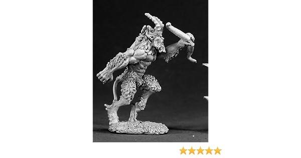 Reaper Miniatures Tanwylen Satyr Sergeant #14462 Wood Elves Unpainted D/&D Mini