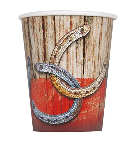 - 9oz Rodeo Western Party Cups, 8ct