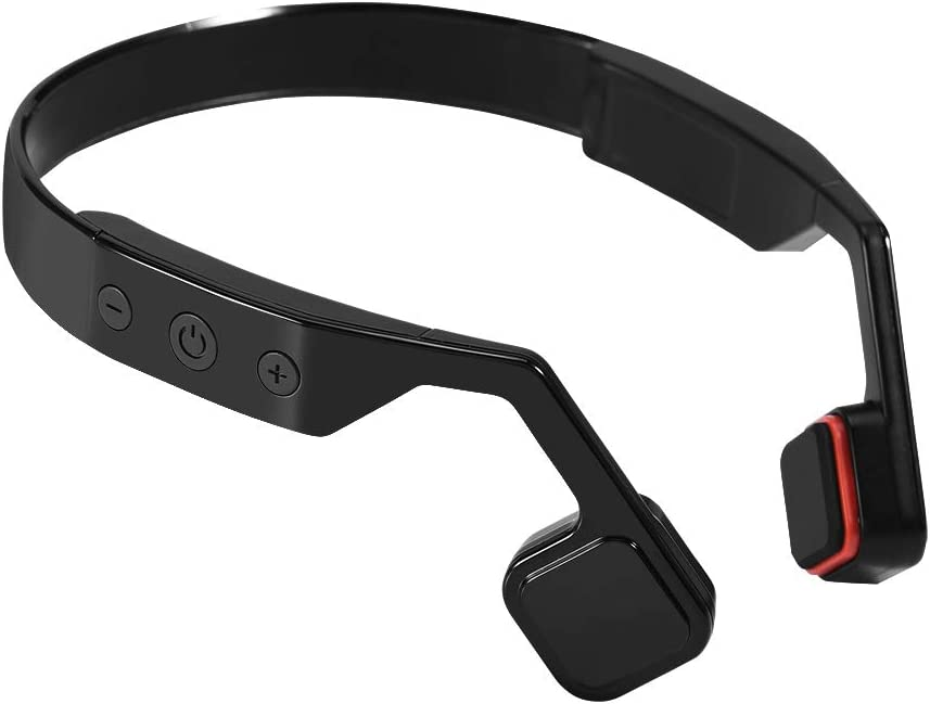 Bluetooth Bone Conduction Headphone Sport Stereo Earphone with Noise Reduction Mic Support Hands-Free Call, for Running, Hiking, etc