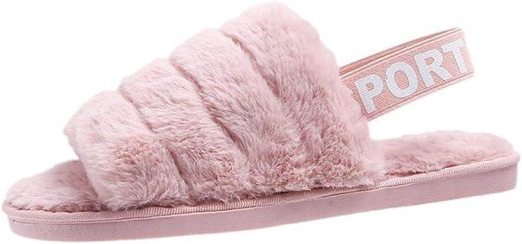 Zapatillas de Estar por Casa ni/ña Mujer Pantuflas de algod/ón con Memoria,Ultraligero Antideslizante Pantuflas de casa para Mujer