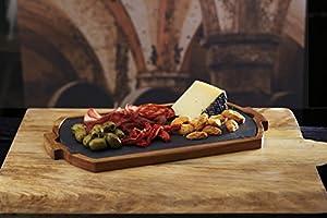 52 x 15 x 17 cm KitchenCraft Artes/à Raised Wooden Serving Platter