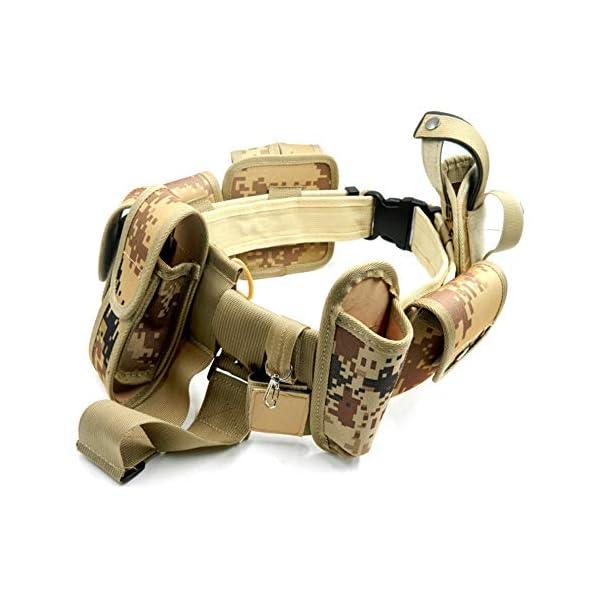 Lixada Cinturón Táctico de Ajustable Nylon Militar Utilidad Correa Kit Guardia de la Policía de Seguridad Formación 8