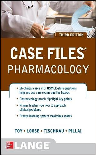 Case Files Pharmacology Third Edition LANGE