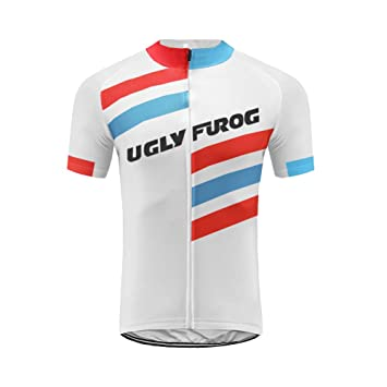 7bad05120796e Uglyfrog Maillot Cyclisme Homme Manches Courtes Tenue Velo Equipe Pro