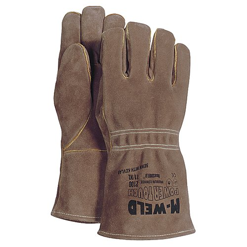 Majestic Glove 2100/10 Industrial Glove, Welders, Kevlar, Fire Retardant Liner, Large, Size 10, Brown (Pack of 12) by Majestic Glove (Image #1)