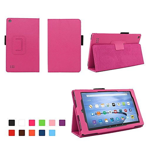(Case for All-New Fire 7 2017 - Premium Folio Case for All-New Fire 7 Tablet with Alexa 7th Generation - Hot Pink)
