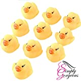 20 X Mini Yellow Bath time Squeaky Rubber Ducks