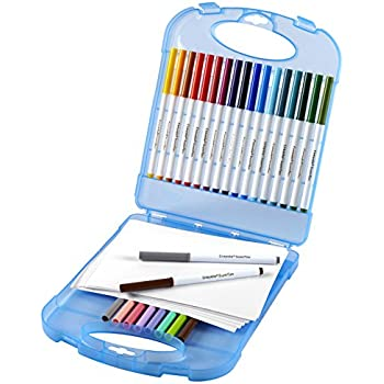Crayola Super Tips Washable Markers and Paper Set, 25 Markers and 40 Sheets of Paper, Art Tools, Storage Case