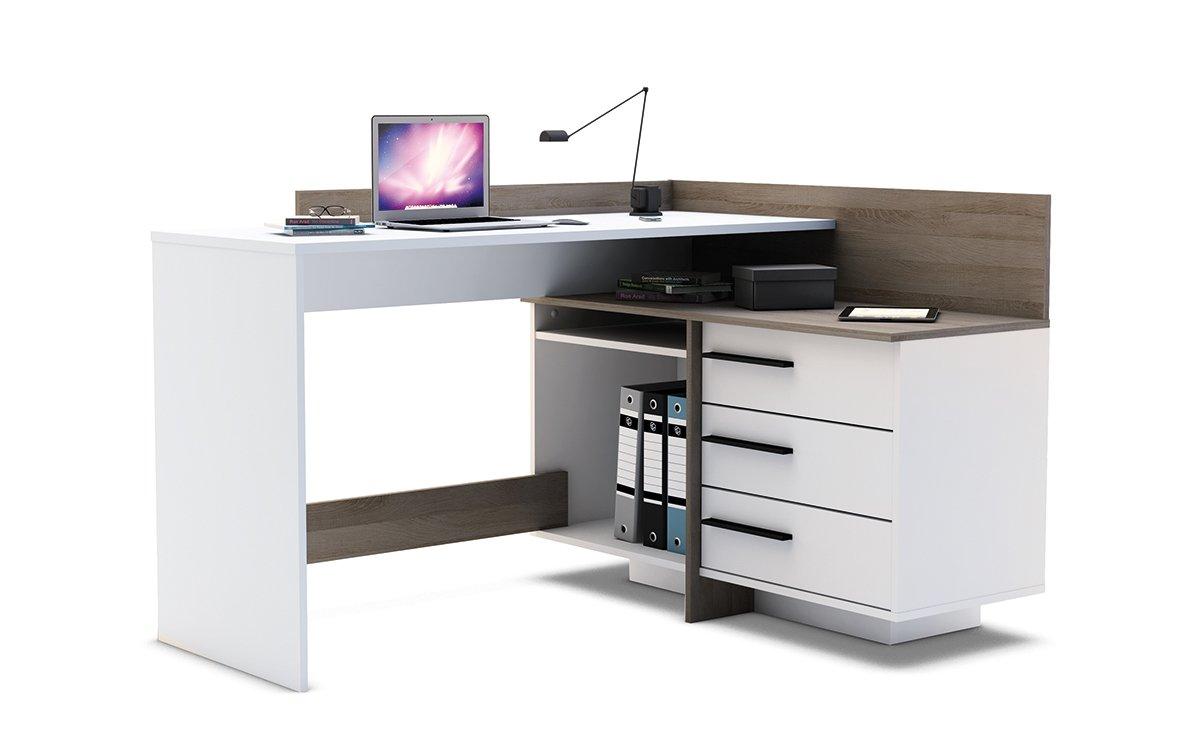 Ángulo de – Mesa de escritorio en esquina mesa escritorio mesa con ...