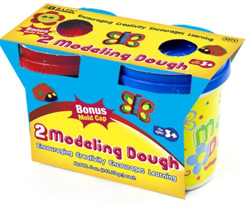 Bazic 5 oz. Multi Color Modeling Dough - 2/Pack 36 pcs sku# 816426MA