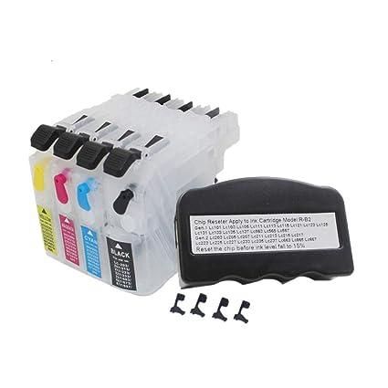 uniprint cartucho de tinta recargable + chip reiniciador para ...