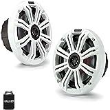 Kicker 6.5 White Marine Speakers (QTY 2) 1 pair of OEM replacement speakers