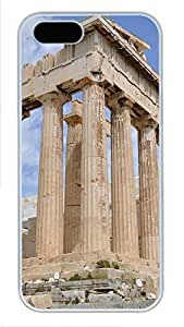 iPhone 5 5S Case Acropolis Athens Buildings PC Custom iPhone 5 5S Case Cover White