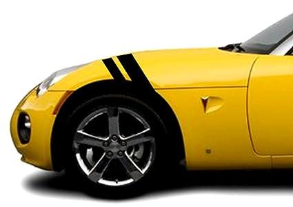 Pontiac SOLSTICE Fender Hash Mark Bars Vinyl Racing Stripes Grand Sport  Graphic Decals 2u0026quot; U0026