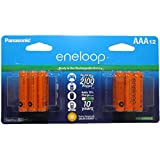 Eneloop  AAA 2100 Cycle Ni-MH Pre-Charged Rechargeable Batteries Orange Pack of 12