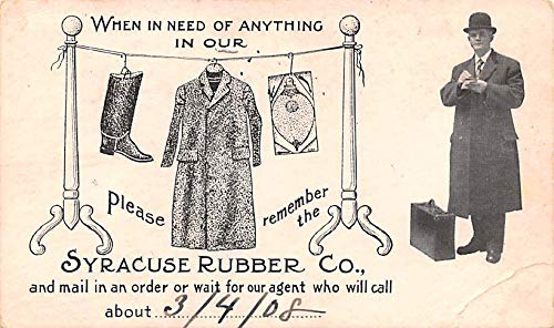 Advertising Post Card Syracuse Rubber Co Clothing 1908