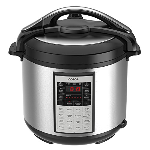 COSORI 8 Qt Premium 8-in-1 Programmable Multi-Cooker (Pressure Cooker, Rice Cooker, Steamer, Warmer, Etc.), 1200W, Includes Glass Lid, Sealing Ring and Recipe Book (Premium Steamers)