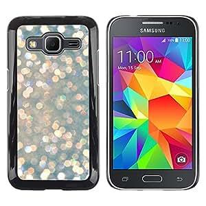 TopCaseStore / la caja del caucho duro de la cubierta de protección de la piel - Snow Diamonds Glitter Winter Sun - Samsung Galaxy Core Prime SM-G360