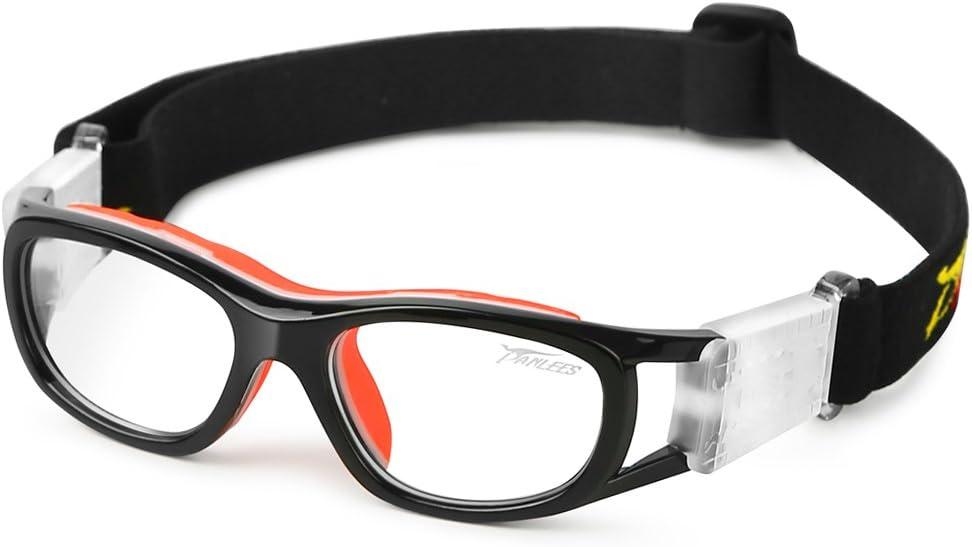 PELLOR Gafas de Deporte, Niño Gafas Protectoras Gafas de Seguridad Deportiva Adjustable para los Amantes de Fútbol Baloncesto Tenis