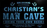 qa1564-b Christian's Man Cave Football Bar Neon Sign