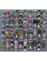 Lot of 4 Lego Friends collectible figures - selected randomly from the ones displayed