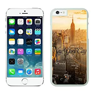 Cool iphone cases for iphone 6 plus, New York City iphone 6 Plus case white cover