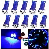 CCIYU 10 Pack Blue T5 Wedge 3-3014 SMD LED Dash Instrument Gauge Light Bulbs 37 70 73 74