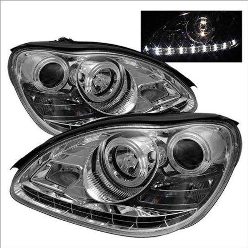 Spyder Auto Mercedes Benz W220 S-Class Chrome DRL LED Crystal Headlight (Class Crystal Headlights)