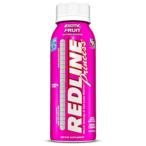 VPX REDLINE Princess Energy and Fat Loss RTD Beverage, Exotic Fruit, 8-Ounce Bottles (Pack of 24)