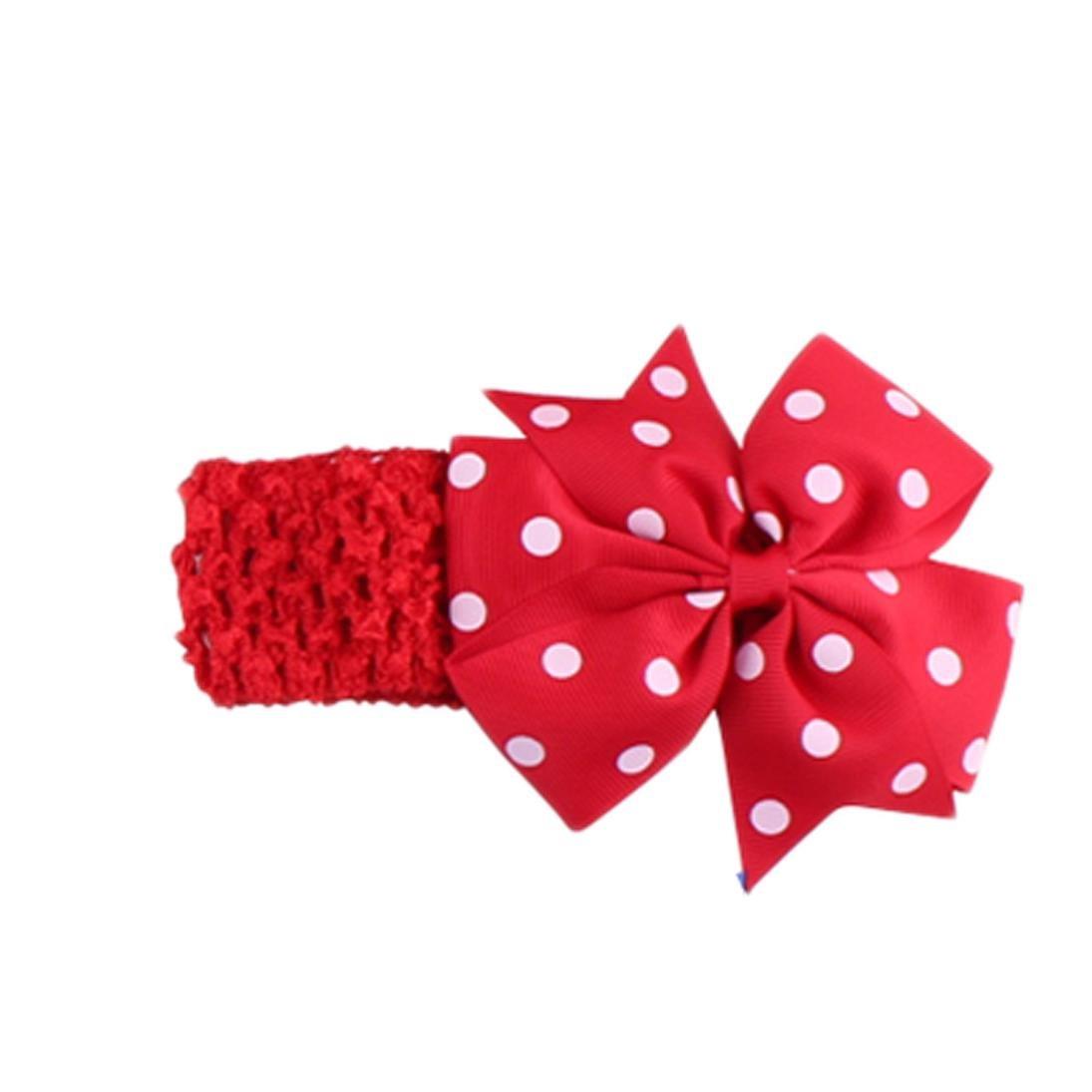 Handlife® Bébé Bandeau Mignon Fille Point Vague Fleur Nœud à deux boucles Cheveux Accessoires (Pink) Handlife®-465