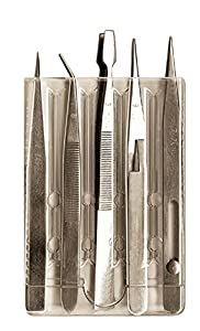 Zona 37-540 Five Piece Tweezer Set, 37-546, 37-547, 37-548, 37-549, 37-543