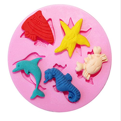 Formas De Silicone Para Sabonete Marine Animals Shape Mold Fondant Molde De Silicone Taart Decoratie Cake