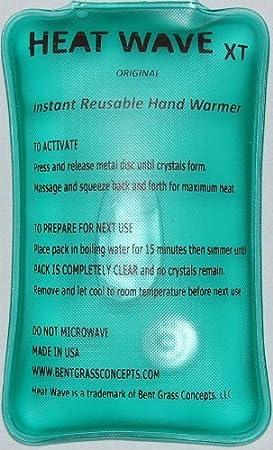 Heat Wave - Calentadores de manos, 4 unidades (2 pares), extra grande, duración instantánea, reutilizables 7,6 x 12,7 cm, grado médico: Amazon.es: Salud y ...