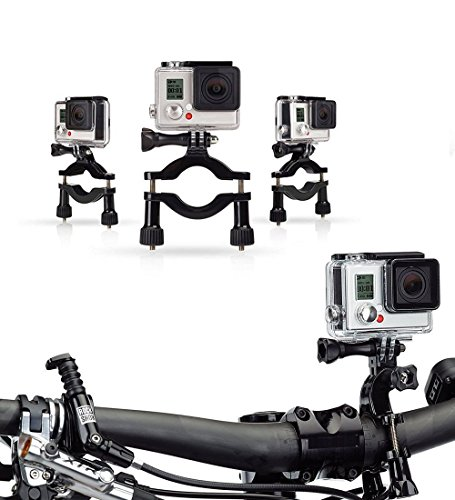 Navitech Cycle/Bike/Bicycle & Motorbike Roll Bar Mount Compatible with The DMYCO 4K WiFi Ultra HD Waterproof Sports Action Camera 16MP