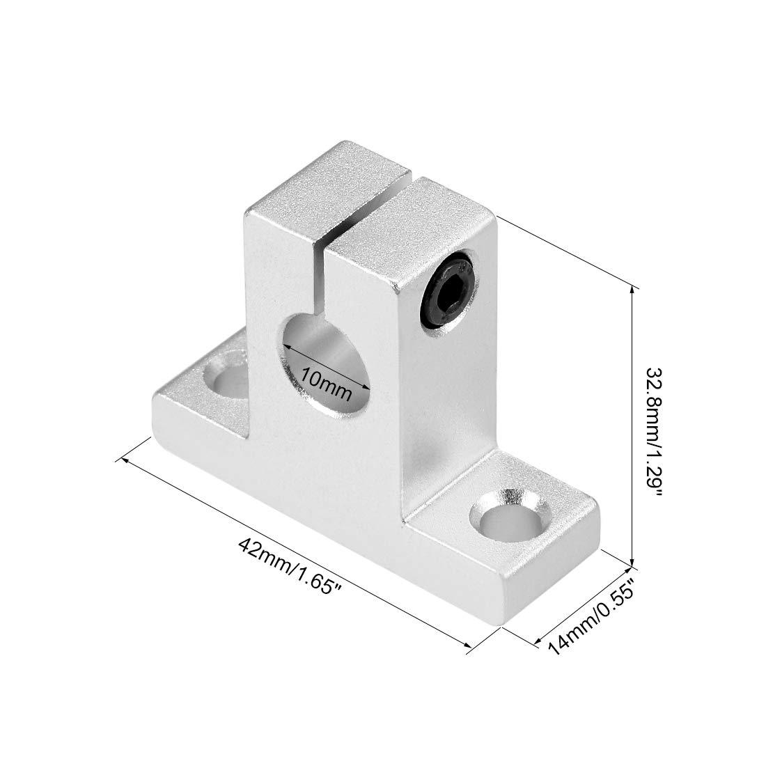 sourcing map Bloques Gu/ía Soporte Eje Riel Deslizante Movimiento Lineal para Impresora CNC 3D SK8 Paquete de 2