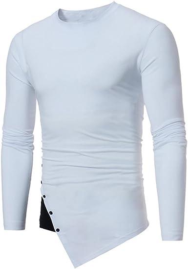 Yvelands Tops Casual para Hombre con Cuello en O Rayado Camiseta con Cremallera de Manga Larga Camisa con Blusa Doblada en Color Sólido Sport Top Daily, Liquidación: Amazon.es: Ropa y accesorios