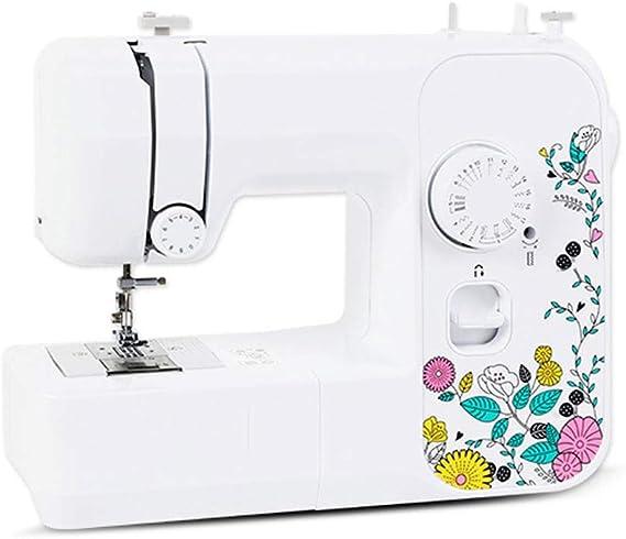 Hogar y Cocina Máquinas de Coser Máquinas de coser Escritorio eléctrico Multifunción con cosido Cosido pequeño de comer 17 Tipos de puntadas de coser Ropa, manualidades y máquinas de coser for el