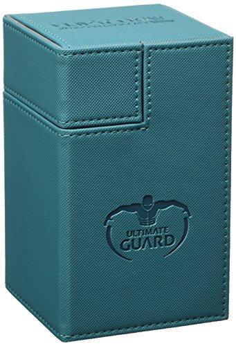Ultimate Guard 100+ Flip n Tray XenoSkin Deck & Dice Case Protector Petrol ()