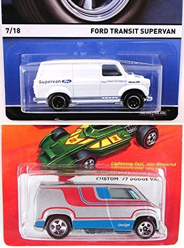 7 of 18 White Hot Wheels 2015 REAL RIDERS FORD TRANSIT SUPERVAN