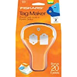 Fiskars 197660-1001 Double Tag Maker with Built-in