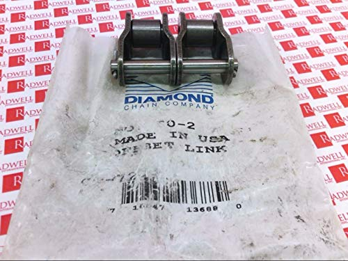 DIAMOND Chain 602-OL Offset Link 3/4IN Pitch 1/2IN Wide DBL Strand