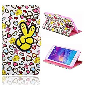 QHY 20150511 Lovely Fingers Pattern PU Leather Full Body Case with Stand for Samsung Galaxy Note 4