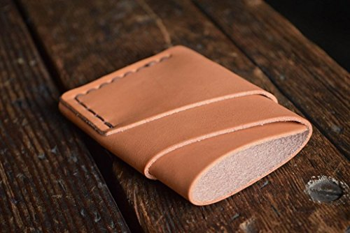 Port Wallet, Handmade Minimal Leather Card Wallet by Craft and Lore (Mens Wallets Caterpillar)