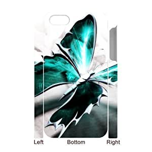3D Bumper Plastic Case Of Butterfly customized case For iphone 6 4.7
