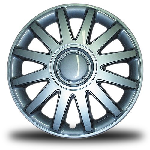 RTX, ABS hubcaps, Silver, 14'', set of four, metal clips 11414P