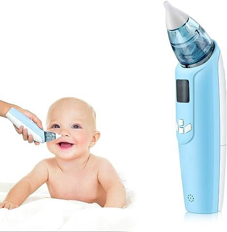 Aspirador nasal eléctrico para bebé, seguro e higiénico, funciona con pilas para niños (azul): Amazon.es: Bebé