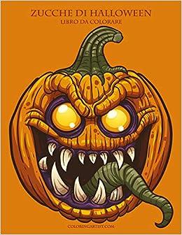 Immagine Zucca Di Halloween 94.Zucche Di Halloween Libro Da Colorare 1 Volume 1 Italian Edition